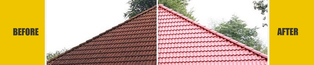 Roof Restoration Townsville Before & After Shot